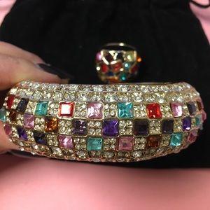 Swarovski crystal bracelet and ring set